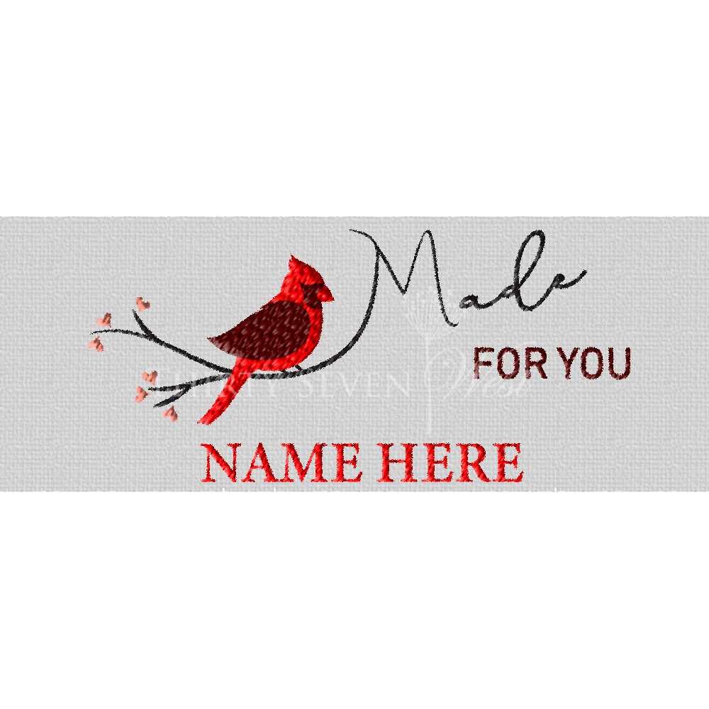 Clothing Label - Made for you Cardinal Label