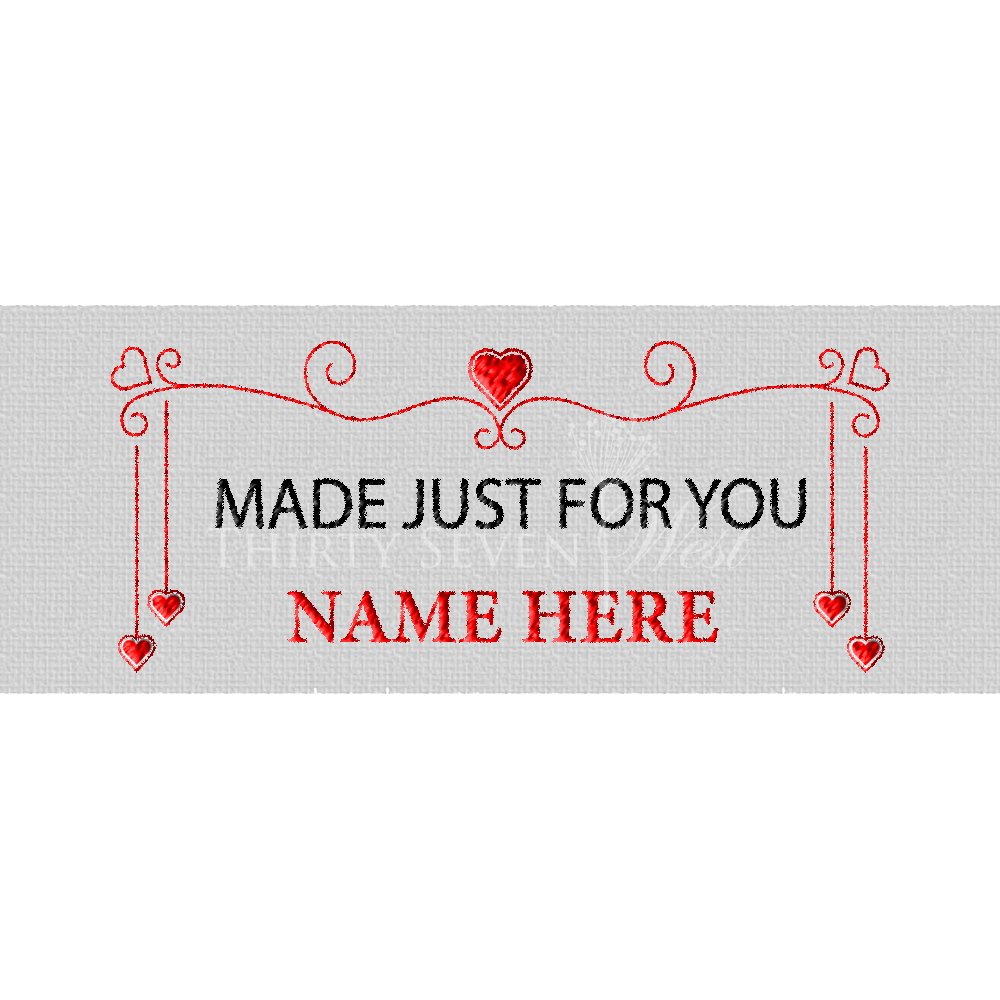 Clothing Label - Made Just for You