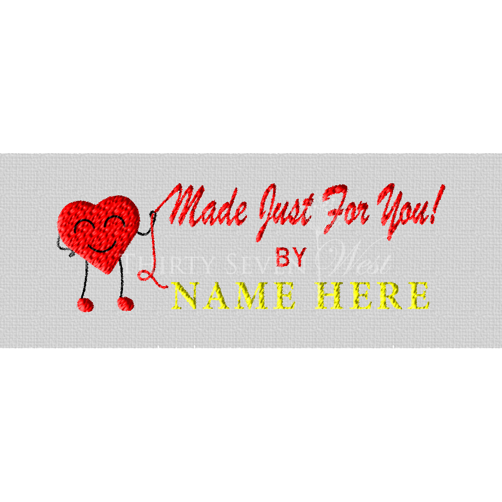 Clothing Label - Made Just for You by