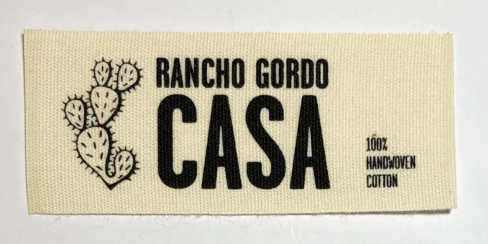 Custom Printed Cotton Labels with Logo