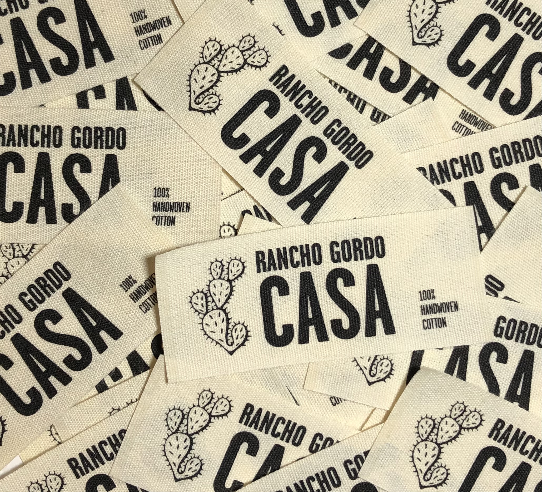 Custom Printed Cotton Logo Labels