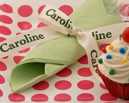 "Personalized 7/8"" Satin Ribbon"