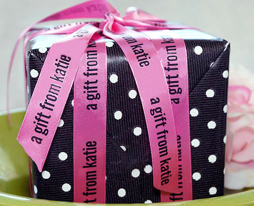 "Pink Personalized Printed 7/8"" Satin Ribbon"