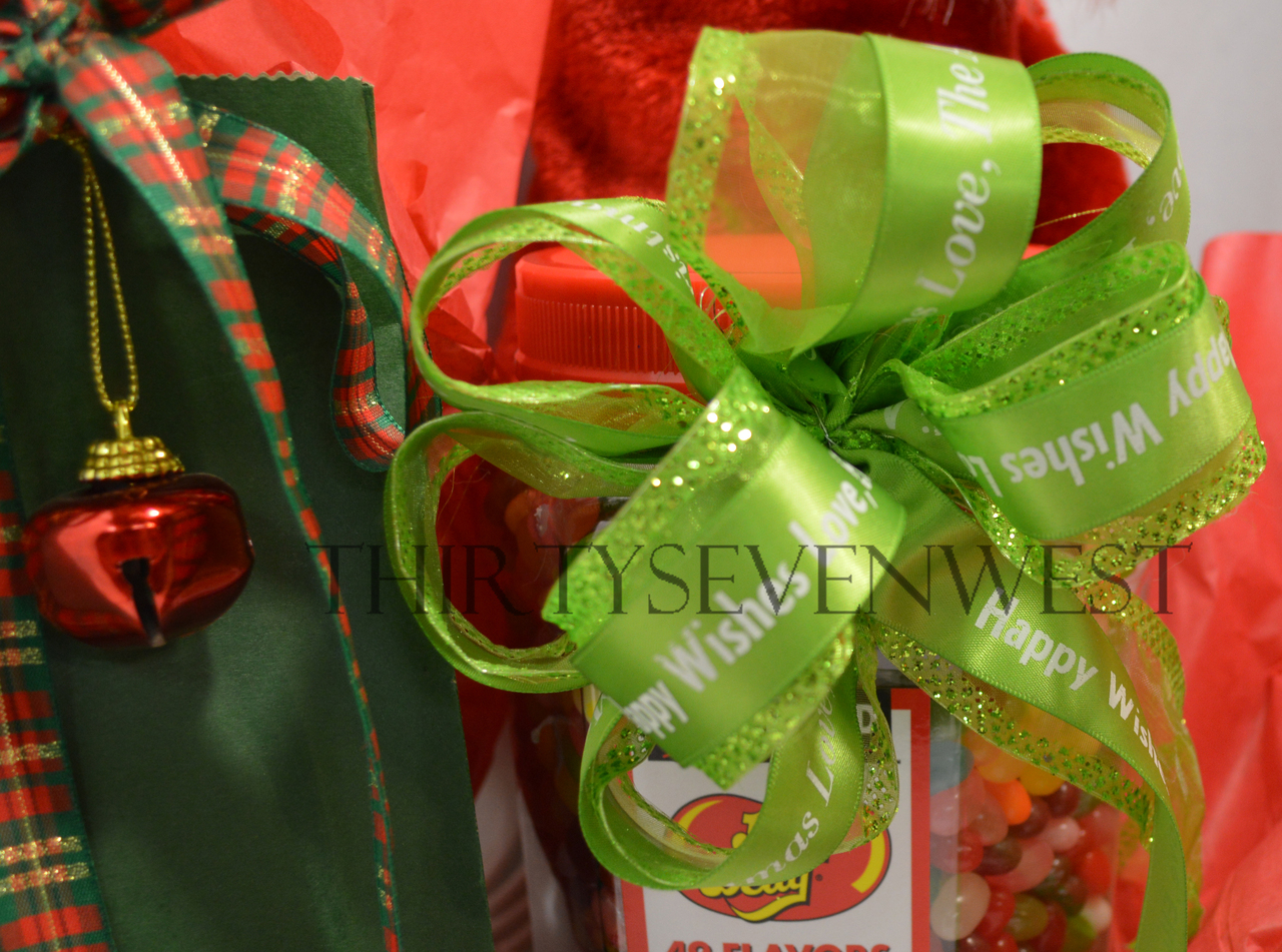 Customized Personalized ribbon ideas for Gift Baskets