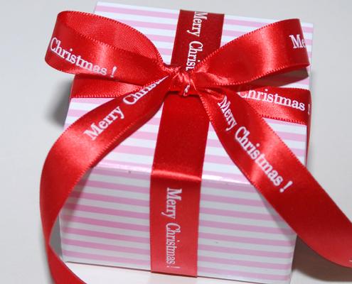 "Personalized 5/8"" Satin Christmas Ribbon"