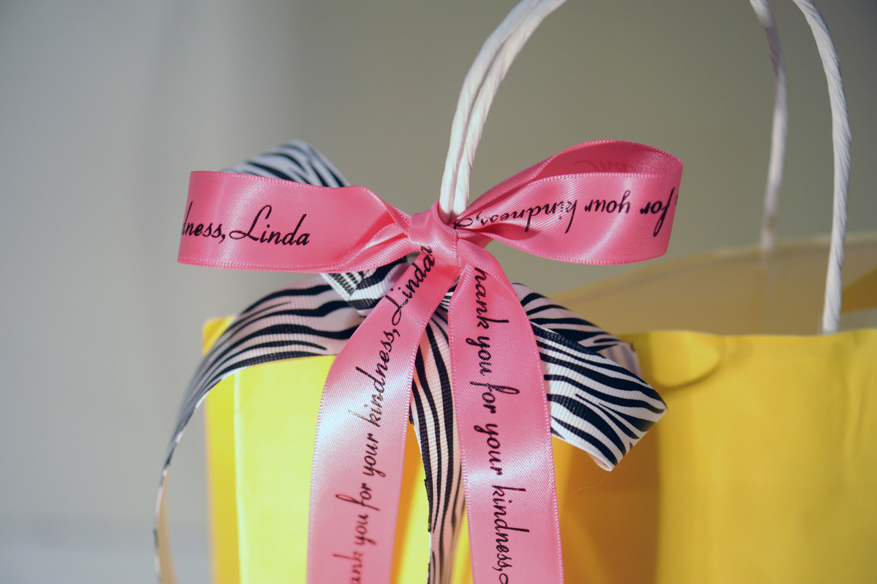 Personalized Printed Satin Ribbon with Zebra Grosgrain Ribbon For gift wrap