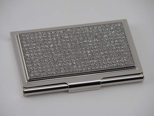Personalized All That Glitters Nickel Plated Business Card Case