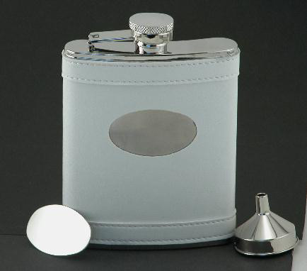 White Flask with Engraving Plate