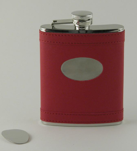 Apple Red Flask with Engraving Plate