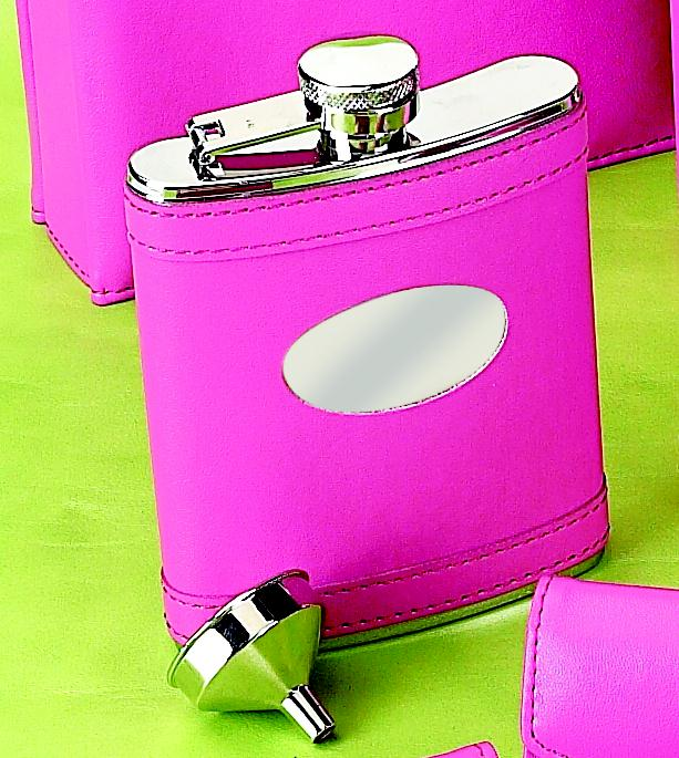Hot Pink Flask with Engraving Plate