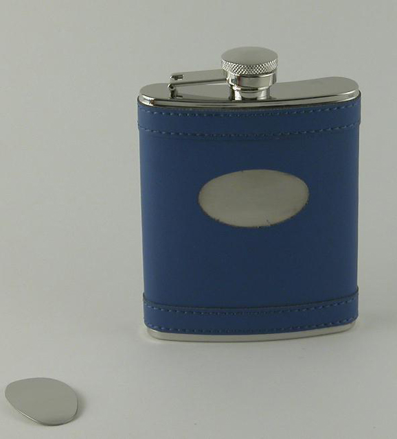 Indigo Flask with Engraving Plate