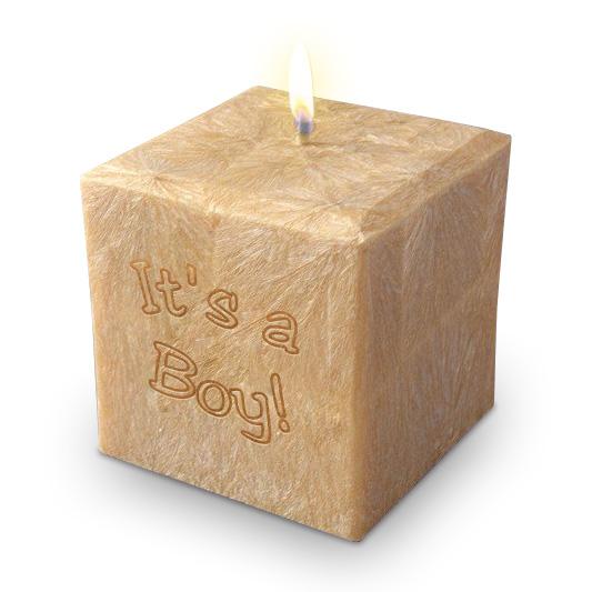 "3"" 100% Palm Wax It's a Boy Candle"