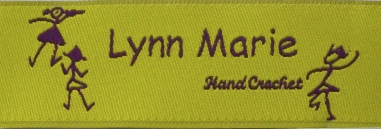 Personalized Woven Label - Stick Kid Border Sample