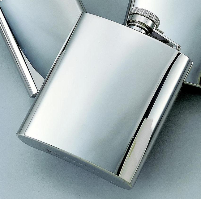 Personalized Bright Stainless Steel Flask