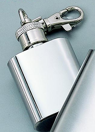 "Personalized 2.5"" 1 oz Stainless Steel Keychain Flask"