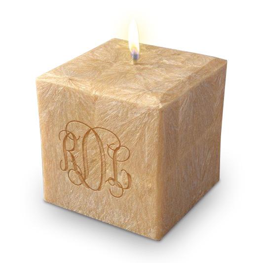 "3"" 100% Palm Wax Monogram Candle"