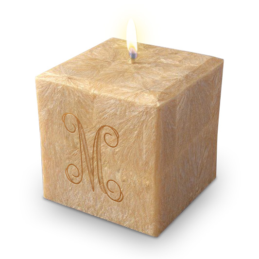 """4"""" 100% Palm Wax Initial Candle"""
