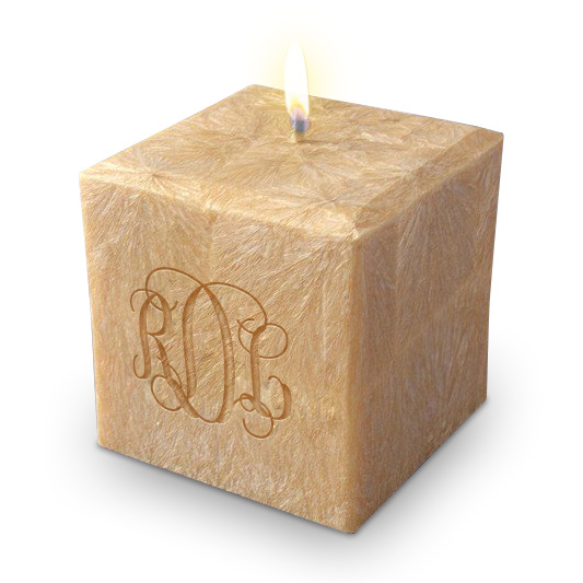 "4"" 100% Palm Wax Monogram Candle"