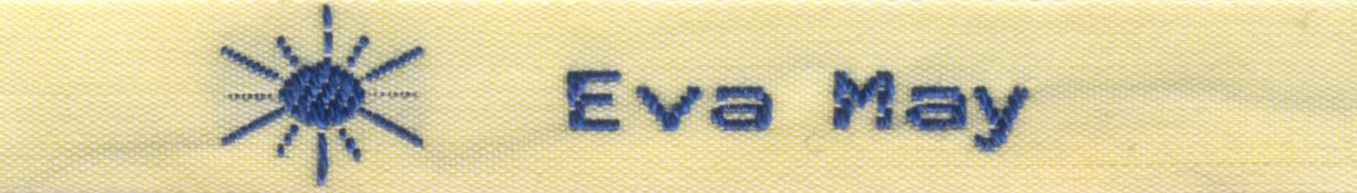 "3/8"" 100% Cotton Woven Label with Sun Motif"