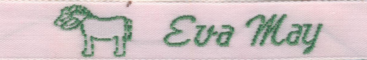 "3/8"" 100% Cotton Woven Label with Horse Motif"