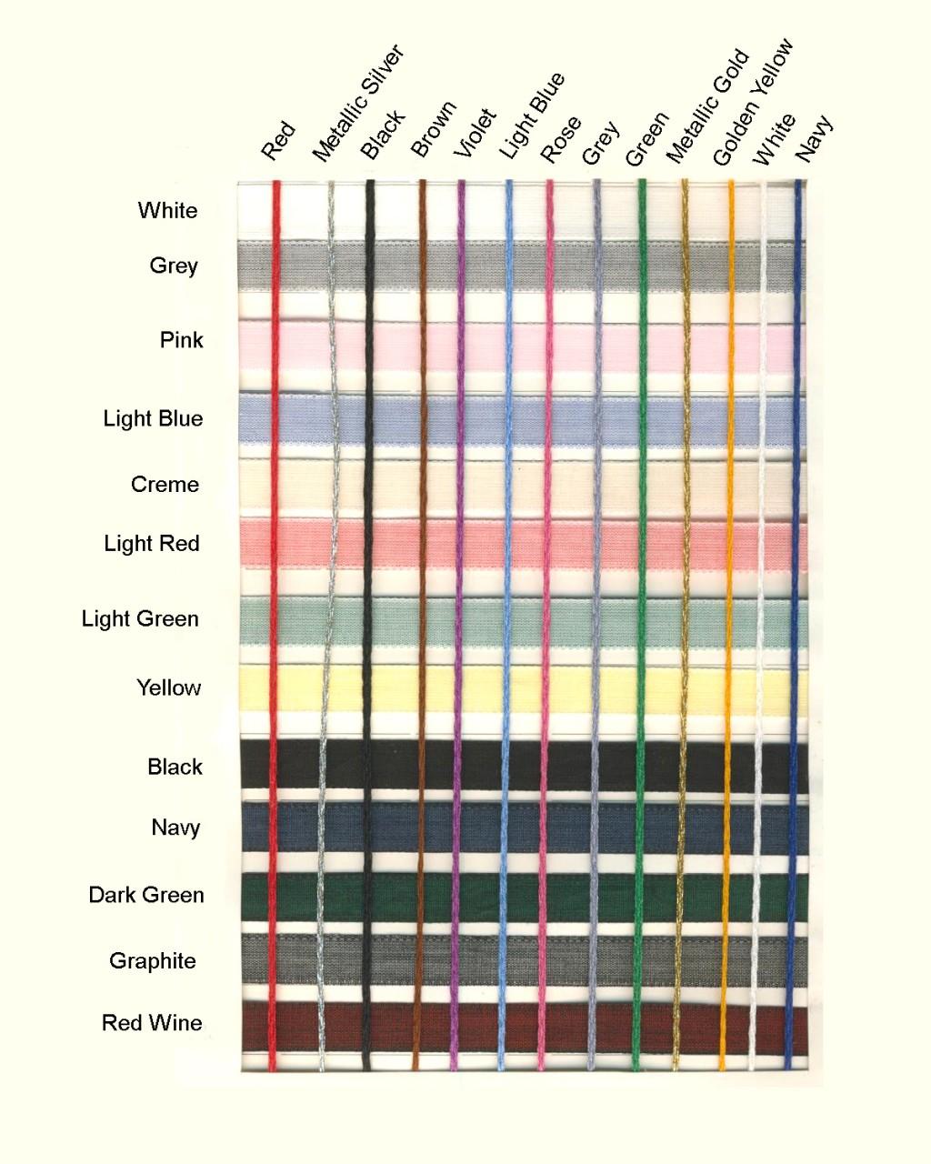 100% Cotton Woven Label Colors
