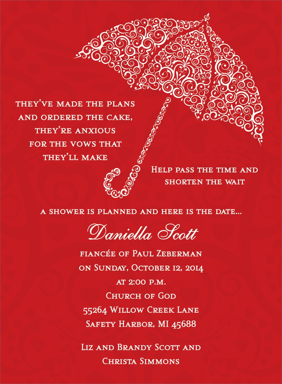 Red Umbrella Invitation