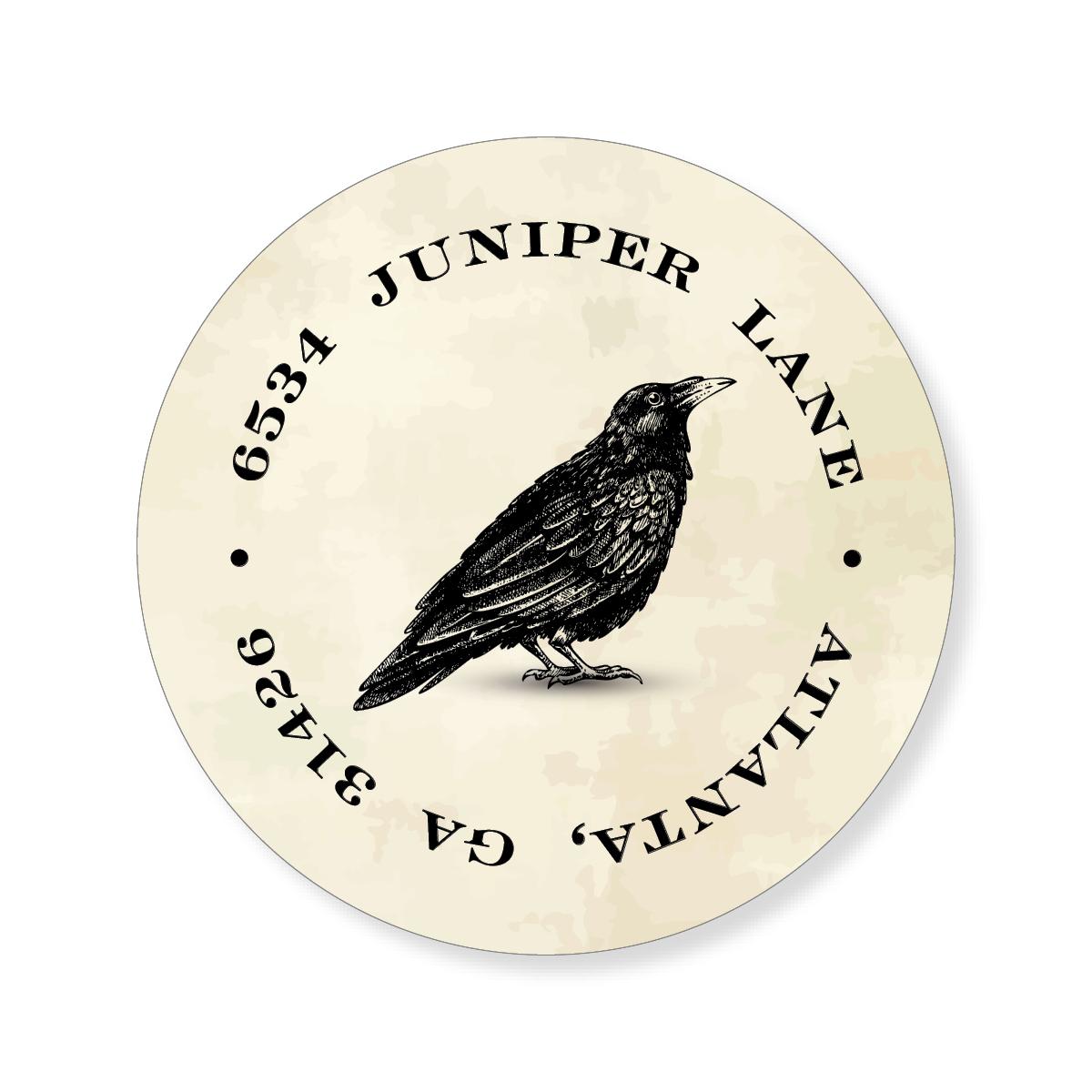 Crow Halloween Sticker