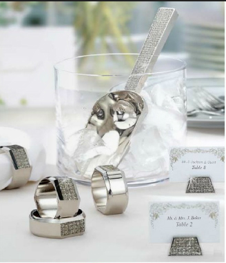 Nickel Plated All That Glitters Ice Scoop Napkin Rings and Place Card Holders
