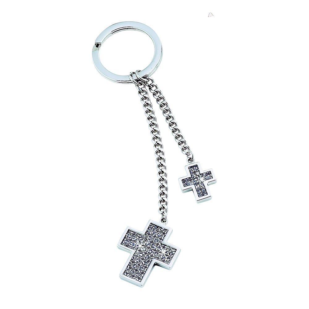 Double Cross Key Ring - All That Glitters