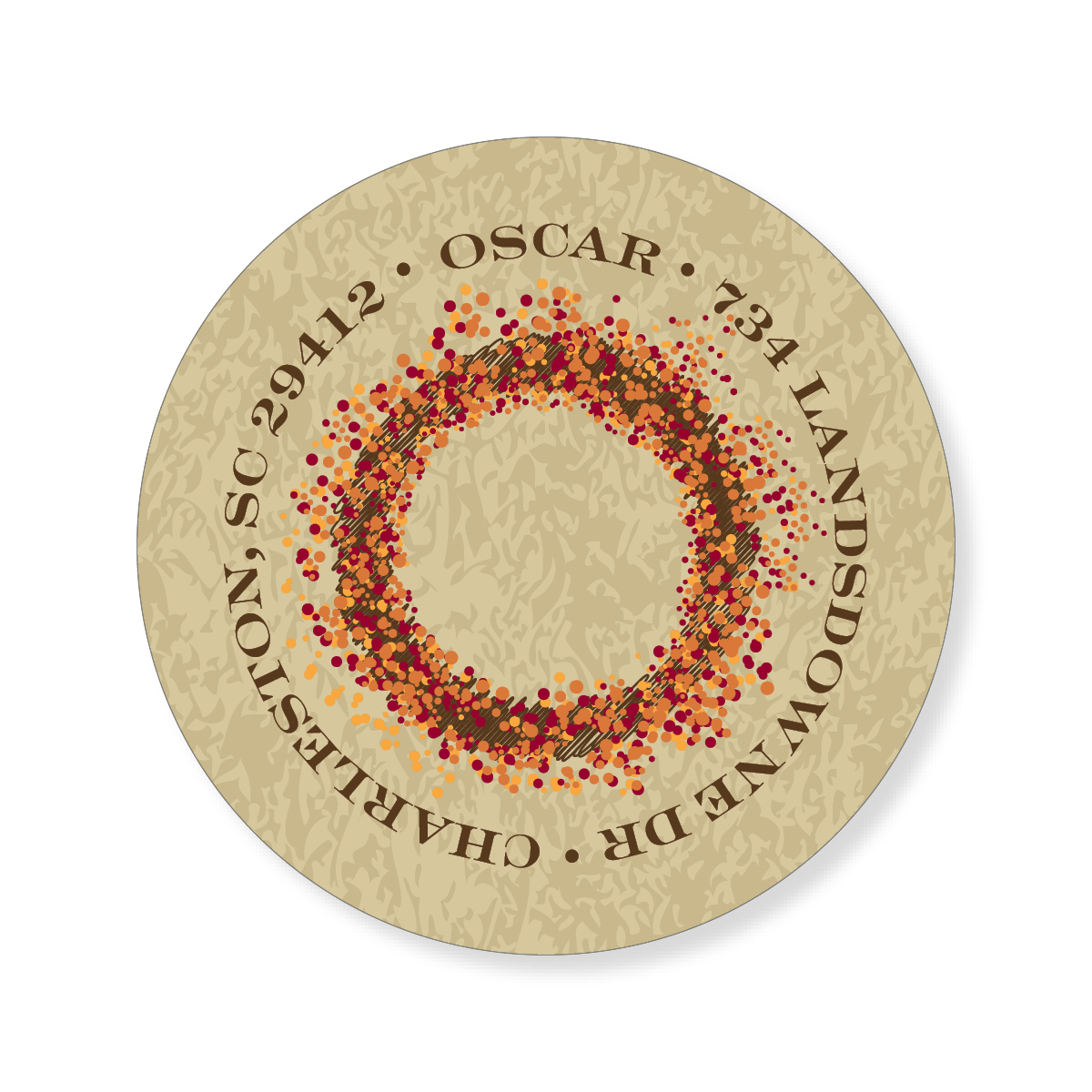 Autumn Wreath Sticker