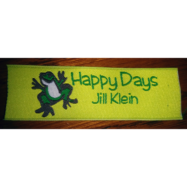 Hopping Frog Fabric Clothing Labels