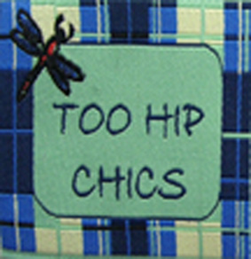 Plaid Dragonfly Woven Fabric Clothing Labels