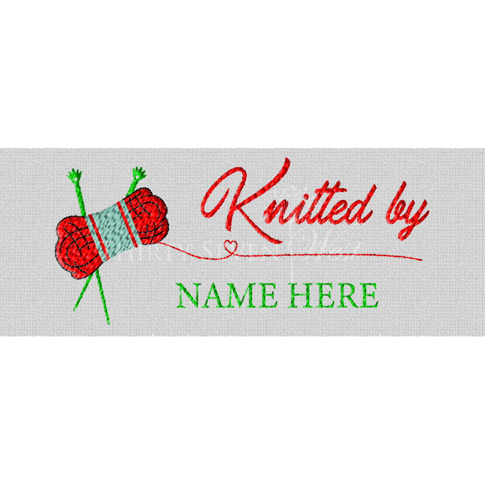 Knitted by Pre-Designed Woven Fabric Clothing Labels