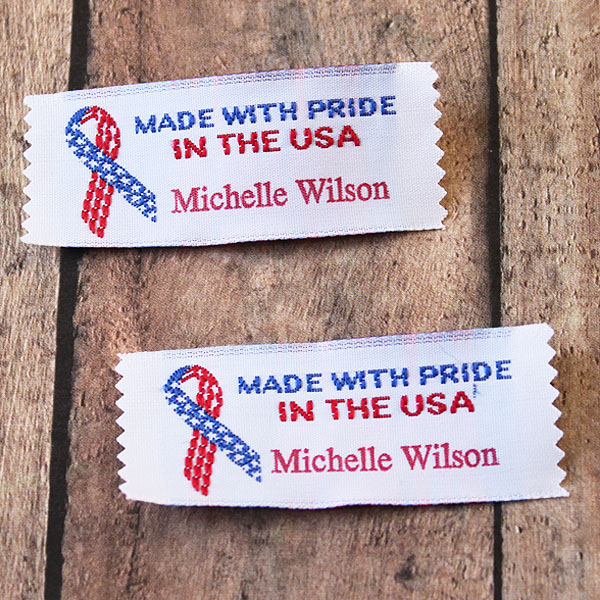 Clothing Label - Made with Pride in the USA
