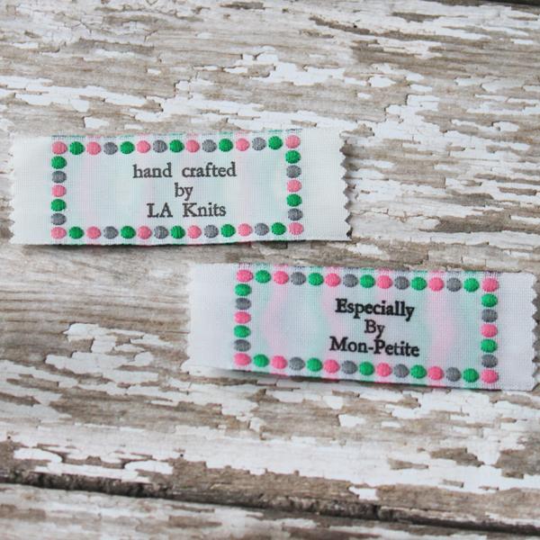 Clothing Label - Polka Dot Border