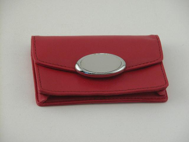 Apple Red Card Case with Engraving Plate