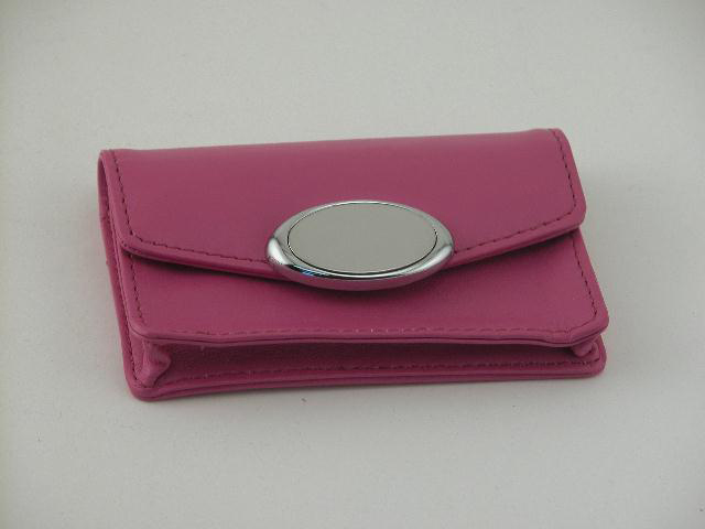 Hot Pink Card Case with Engraving Plate