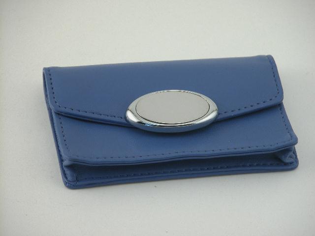 Indigo Card Case with Engraving Plate