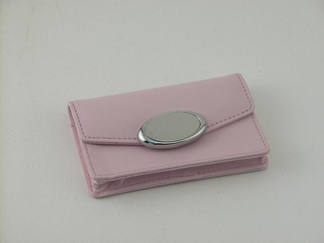 Pink Card Case with Engraving Plate