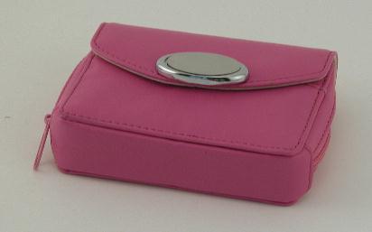 Hot Pink Zippered Card Case
