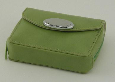 Lime Green Zippered Card Case