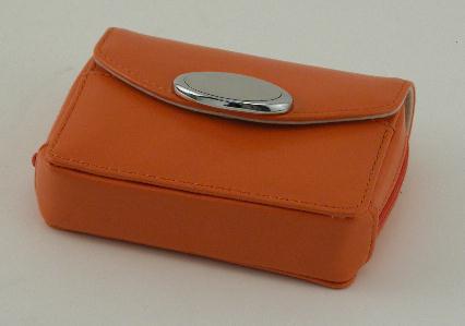 Orange Zippered Card Case