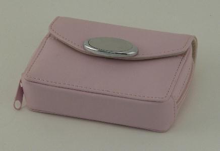 Pink Zippered Card Case