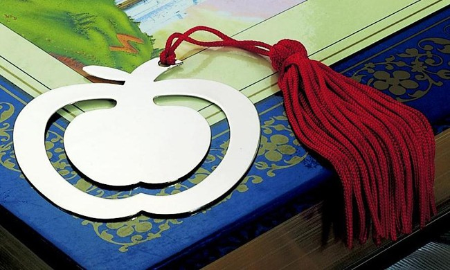 Apple Bookmark with Tassel
