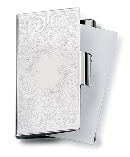 Embossed Scroll Card Case