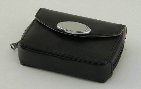 Zippered Card Case - Black