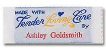 Made with Tender Loving Care Pre-Designed Woven Fabric Clothing Labels