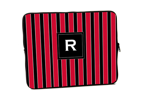 Red and Black Stripes iPad and Laptop Sleeves