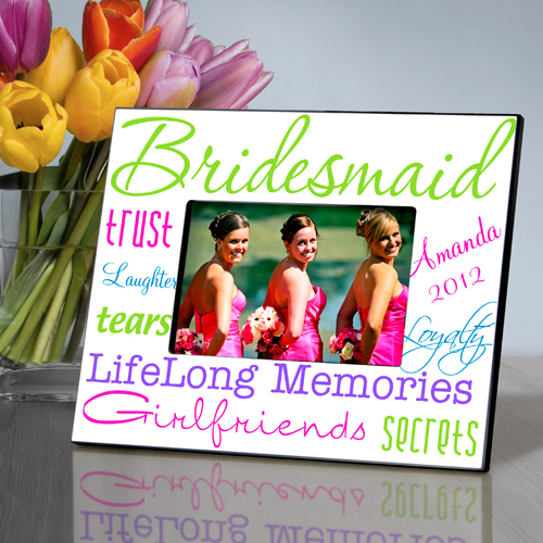 Beautifully Bright Personalized Bridesmaids Frames