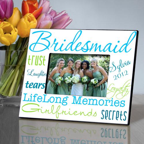 Brilliant Blue Personalized Bridesmaids Frames